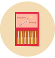 ampoule of beauty in a red box vector image