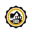backhoe logo design excavator equipment service vector image vector image