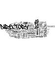 bb directory text word cloud concept vector image vector image