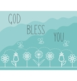Biblical background with the words God bless you vector image vector image