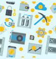 bitcoin mining money icons finance internet vector image vector image