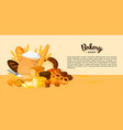 bread banner for bakery and pastry shop template vector image vector image