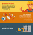 building and home repair construction web vector image vector image