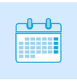 Calendar Icon Simple Blue vector image