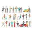 Collection of Characters of Different Social Level vector image vector image