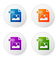 color jpg file document download image button vector image vector image