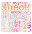 Come Out With Your Checkbook Open text background vector image vector image