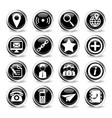 contacts simply icons vector image