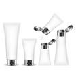 cosmetic tube for cream gel liquid foam vector image vector image