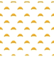 Croissant pattern cartoon style vector image vector image