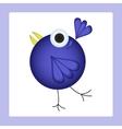 Dancing cartoon bird vector image