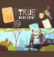 detective story banners set vector image vector image