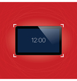 Digital tablet with shiny sensor screen Electronic vector image vector image