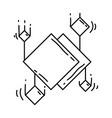 ecommerce digital icon hand drawn icon set vector image vector image
