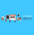elearning online education banner with student vector image vector image