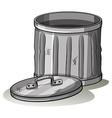 Empty grey tashcan vector image vector image