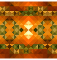 Fall season triangle seamless pattern background vector image
