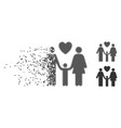 family love disappearing pixel halftone icon vector image vector image