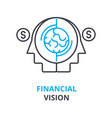 financial vision concept outline icon linear vector image vector image