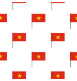 flag of vietnam pattern seamless vector image vector image