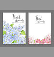 floral covers vector image vector image