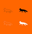 fox of silhouettes icon vector image