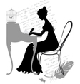 Girl writes a letter vector image vector image