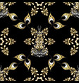 gold on black colors decorative symmetry vector image