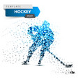 hockey dot template stick and washer vector image vector image
