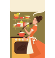 home made cooking vector image vector image