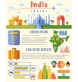 india traveling infographics template vector image vector image