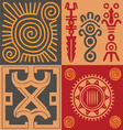 Indian ornament set vector image vector image