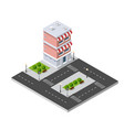 isometric 3d shop market vector image vector image