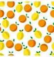 lemons and oranges grapefruits tropical fruits vector image