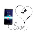 love music realistic composition vector image vector image
