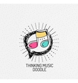 multicolored hand-drawn doodles icon vector image vector image