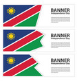 namibia flag banners collection independence day vector image vector image