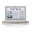 online news vector image vector image