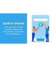 online seo service company banner template vector image