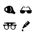 optometry vision simple related icons vector image