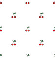 pair of cherries seamless pattern on white vector image vector image
