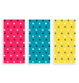 polka pattern banners set in three colors vector image vector image