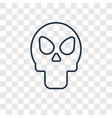 remains concept linear icon isolated on vector image