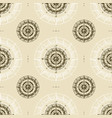 seamless vintage compass pattern vector image vector image