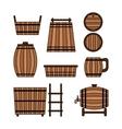 Set barrel mug wooden tub and other barrel