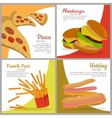 Set of banners with unhealthy food Junk food vector image vector image
