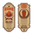 set of vintage doner kebab flyer templates design vector image vector image