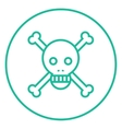 Skull and cross bones line icon vector image