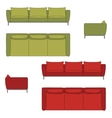 Sofa Set Flat vector image