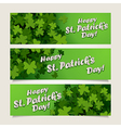 st patricks headers vector image